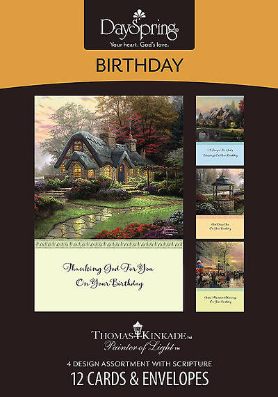 Thomas Kinkade™ Painter of Light™ NIV - Birthday Boxed Cards - Box of 12