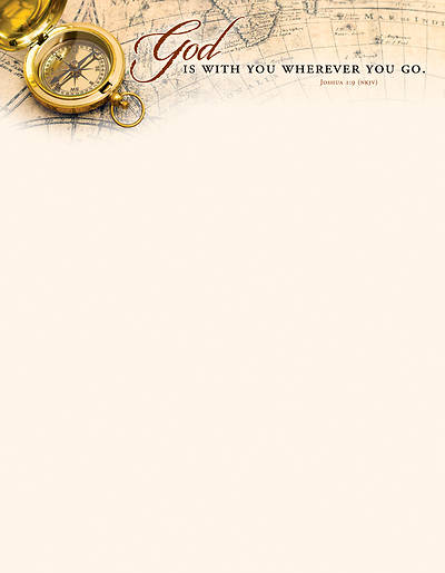 Picture of God Is With You General Use Letterhead