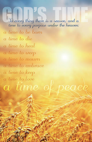 God's Time of Peace Funeral Regular Size Bulletin