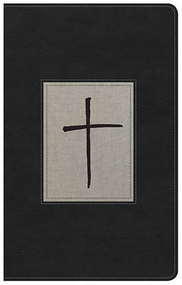 Picture of NKJV Ultrathin Reference Bible, Black/Gray Deluxe Leathertouch, Indexed