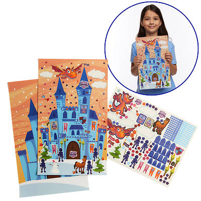 Picture of Vacation Bible School (VBS) 2020 Knights of North Castle Sparky's Castle Sticker Poster (Pkg of 12)