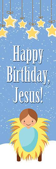 Picture of Happy Birthday Jesus! Bookmark Luke 2:11 (Package of 25)