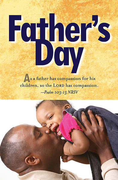 Father and Child Fathers Day Bulletin 2013, Regular (Package of 50)