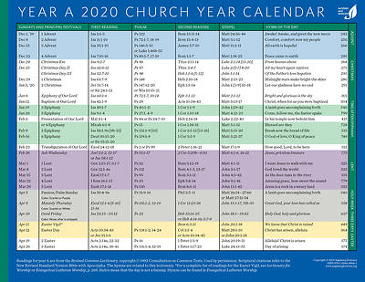 Picture of Church Year Calendar 2020, Year A