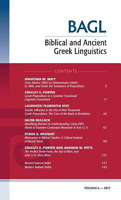Picture of Biblical and Ancient Greek Linguistics, Volume 6