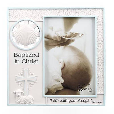 Picture of Baptized In Christ  Photo Frame Pink
