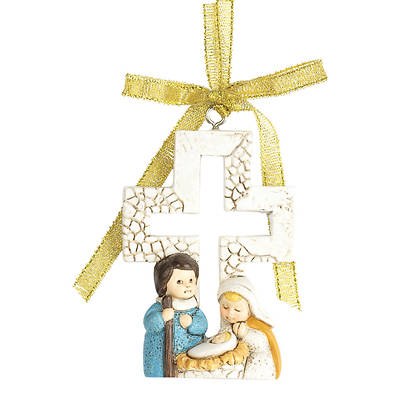 Picture of Holy Family with Cross Ornament
