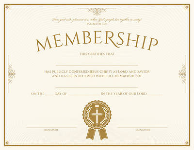 Picture of Membership Certificate Psalm 133:1 - Pack of 6