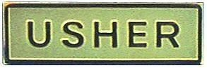 Picture of Gold Metal Usher Pin-On Badge