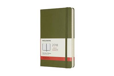 Moleskine 12 Month Daily Planner, Large, ELM Green, Hard Cover (5 X 8.25)