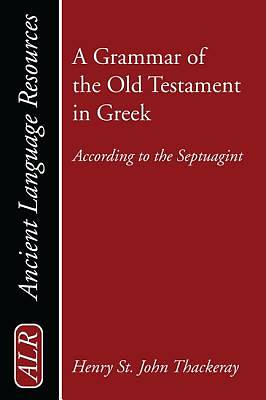 Picture of A Grammar of the Old Testament in Greek, Volume 1