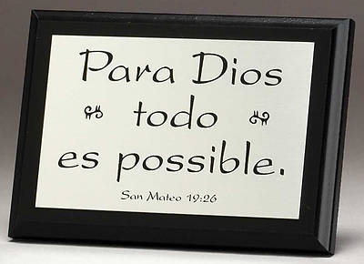 With God All Things Are Possible Plaque, Spanish