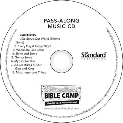 Standard Vacation Bible School 2013 Gods Backyard Bible Camp Pass-Along Music CDs (pkg 10)
