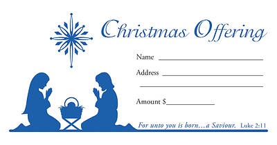 Christmas Offering Envelope Pkg of 100