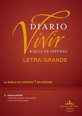 Picture of Biblia de Estudio del Diario Vivir Rvr60, Letra Grande (Letra Roja, Tapa Dura)