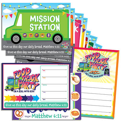 Picture of Vacation Bible School (VBS) Food Truck Party Activity Center Signs & Publicity Pak