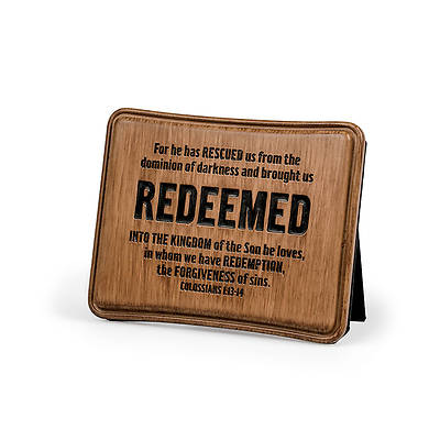 Brown Cast Stone Series - Redeemed Plaque