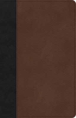 Picture of CSB Thinline Bible, Black/Brown Leathertouch