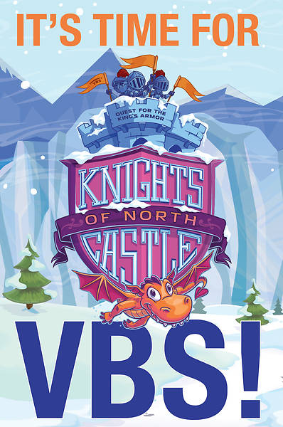 Picture of Vacation Bible School (VBS) 2020 Knights of North Castle Invitation Postcards (Pkg of 24)