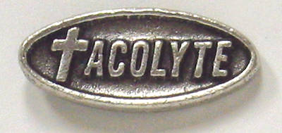 Acolyte Pin with Silver Oxidized Finish - Pack of 5 (#93)
