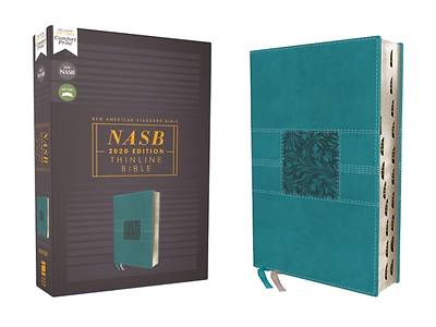Picture of Nasb, Thinline Bible, Leathersoft, Teal, Red Letter Edition, 2020 Text, Thumb Indexed, Comfort Print