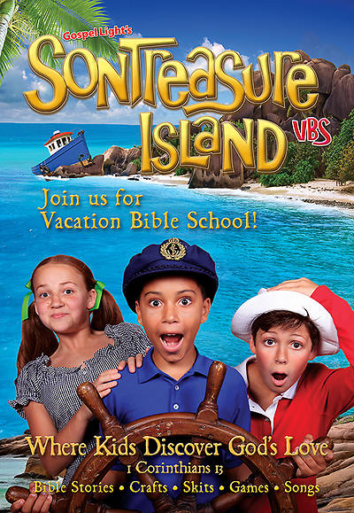Gospel Light VBS 2014 SonTreasure Island Invitation Postcard 50pk