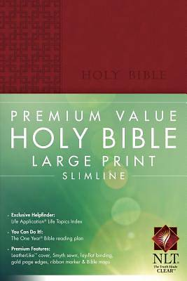 Premium Value Large Print Slimline Bible New Living Translation
