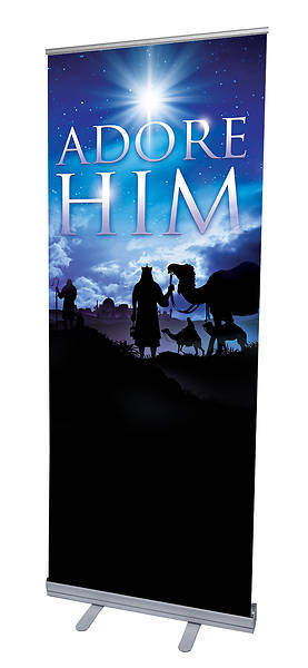 Picture of Adore Him Advent RollUp Banner with Stand