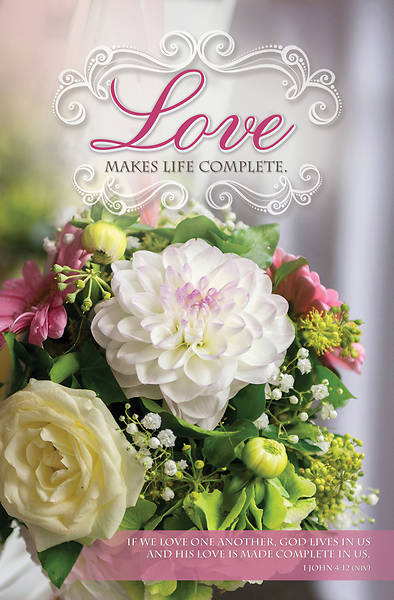 Love Makes Life Complete Wedding Bulletin Reg (Pkg of 100)