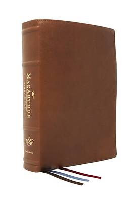 Picture of The Esv, MacArthur Study Bible, 2nd Edition, Premium Goatskin Leather, Brown, Premier Collection