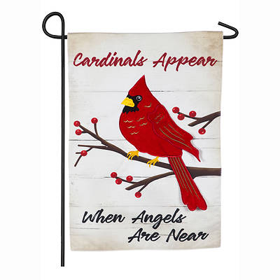 Picture of When Angels Are Near Garden Linen Flag
