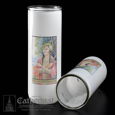 Picture of Saint Kateri Tekakwitha 5, 6, 7-Day Glass Globe