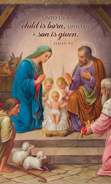 Picture of A Son is Given Announcement Folder Isaiah 9:6
