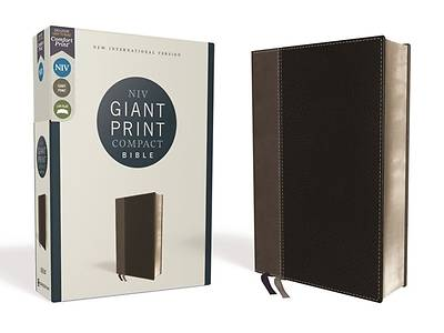 Picture of Niv, Giant Print Compact Bible, Leathersoft, Black, Red Letter Edition, Comfort Print