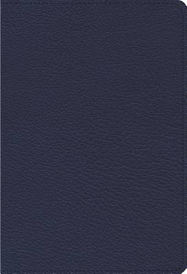 ESV Heirloom Single Column Personal Size Bible (Goatskin, Blue)