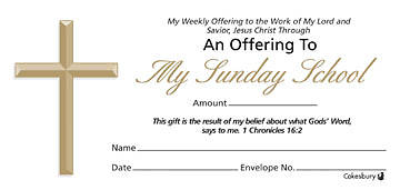 Sunday School Offering Envelope Bulk Currency (Package of 500)