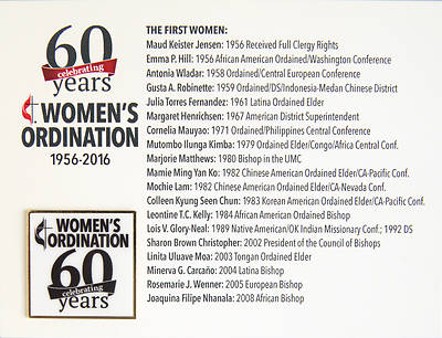 Picture of 60th Anniversary Women's Ordination Lapel Pin