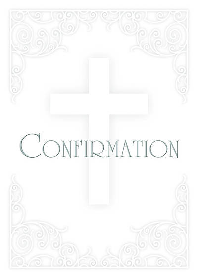 Premium Foil Embossed Confirmation Certificate with Envelope (Package of 6)