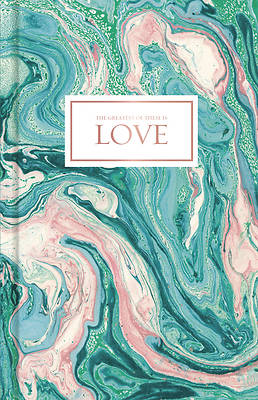 Picture of Love-Pink and Teal Marble, Journal