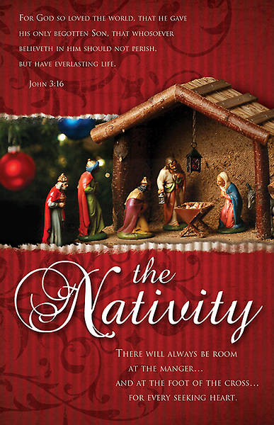 Nativity Bulletin John 3:16 KJV Regular (Package of 100)