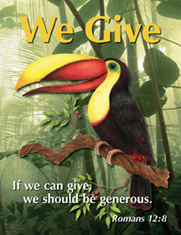 Augsburg Vacation Bible School 2008 Rainforest Adventure Bible Memory Verse Poster Pack VBS