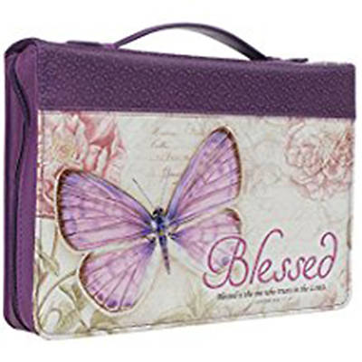 Bible Cover Butterfly Blessed Purple Jeremiah 17