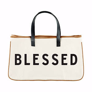Picture of Blessed Large Canvas Tote
