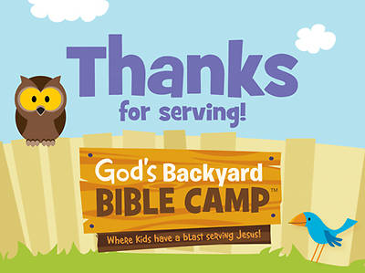 Standard Vacation Bible School 2013 Gods Backyard Bible Camp Staff Appreciation Cards (pkg 10)