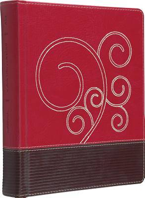 ESV Journaling Bible (Trutone, Raspberry/Chocolate, Flourish Design)