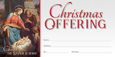 Picture of Christ the Savior is Born Christmas Offering Envelope