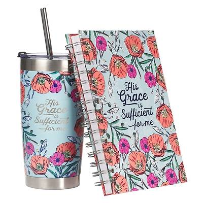 Picture of Gift Set Journal and Mug His Grace Is Sufficient 2 Corinthians 12