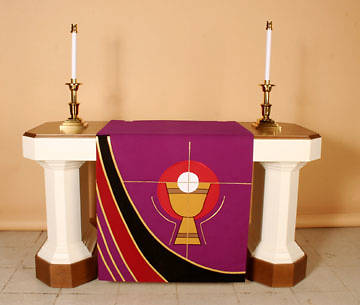 Ascension Series Purple Altar Antependia Chalice & Host