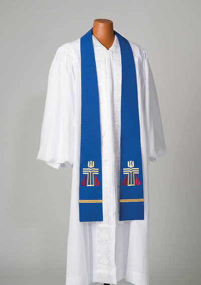 Picture of Blue Presbyterian Liberty With Gold Braid Stole