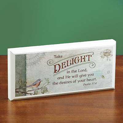 Picture of Delight in the Lord MIni Plaque